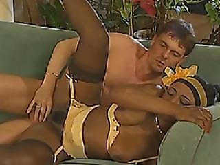 Slutty Brunette And Her Ebony Friend Enjoys Awesome Wild Threesome Fuck