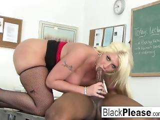 Hot Teacher Kelli Gets An Interracial Fuck From Her Student