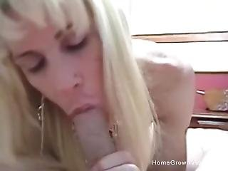Busty Blonde Amateur Sucks Then Fucks