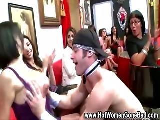Cfnm cock sucking party sluts