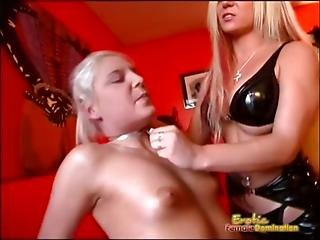 Intense Hot Wax Session For Excited Slave
