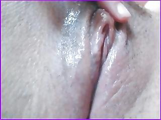 Shy Beautiful Girl Rubs Her Wet Clit