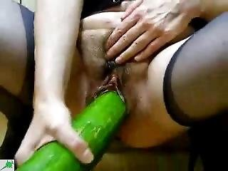 Mature Fuck With Cucumber