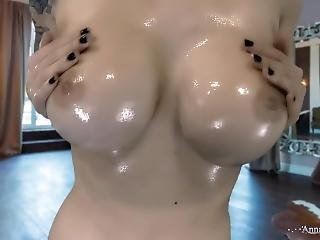 Cute Oily Chick Gets Fucked By Sex Machine