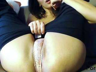 10 Inch Huge White Dildo In My Tight Pussy