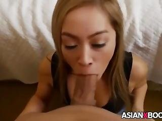Beautiful Asian Babe Sucks Cock (add Me On Snapchat: Babehot6969 )