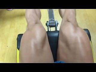 Female Muscle Legs Growth After Workout