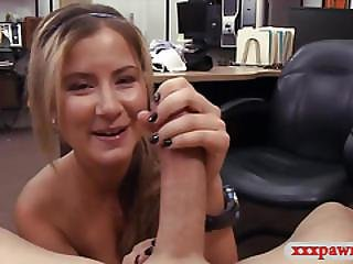 Hot Waitress Pounded By Pawnshops Owner To Earn Extra Cash