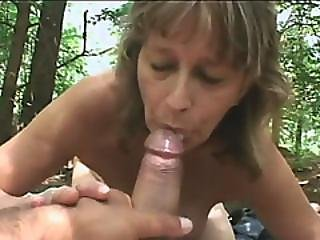 Horny Grandma Loves To Film Pov Videos While Outdoors