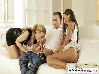 Babes - Step Mom Lessons - Amirah Adara And Angel Snow And Mark - Lessons