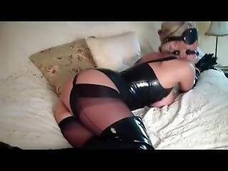 Sexy Blonde, Bit Gagged And Blindfold
