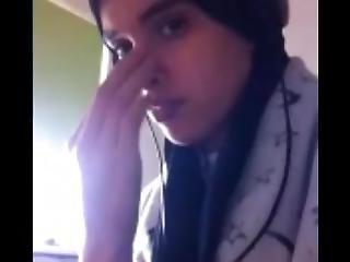 Hayat El Allouchi On Skype Webcam