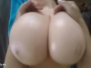 Giving A Busty Babe A Boob Massage!