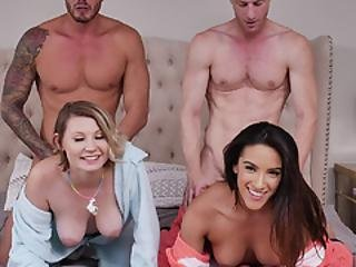 Cara May And Adrian Pleasuring Each Other Dads Cocks With Some Wet Blowjobs