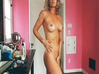 Jennifer Silverbeauty Oil Up Mom Milf Mature Cougar