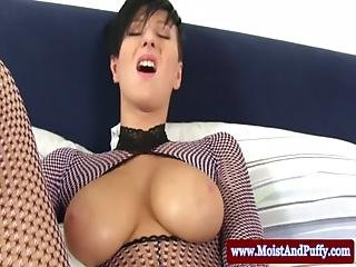 Fucking Her Pussy With A Pearl Necklace