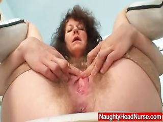 Aged, Amateur, Bush, Clinic, Closeup, Dildo, Fetish, Hairy, Kinky, Masturbation, Mature, Medical, Milf, Nurse, Pussy, Sex, Speculum, Spreading, Stocking, Toys, Uniform