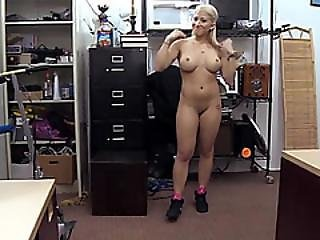 Voluptuous And Blonde Stripper Wants To Sell Her Pole Gets Fucked