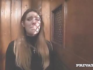 Samantha Bentley Gets A Huge Facial In I Confess