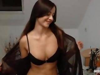 German Brunette With Nice Tits And Pierced Nipples Getting Fucked