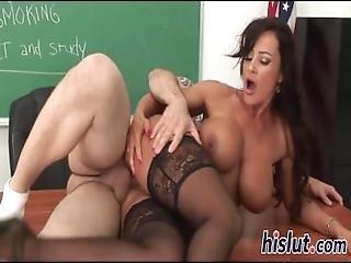 Ravishing Teacher Rides A Massive Pole