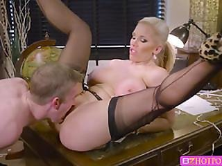 Busty Rebecca Moore Gets Banged In The Office