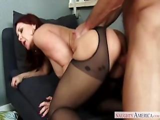 Mom In Heels And Stockings Janet Mason Fucks Son
