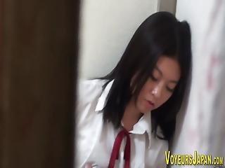 asiático, japonese, masturbación, coño, estudiante, Adolescente