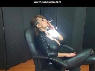 Sandi Chainsmoking Two Cigs