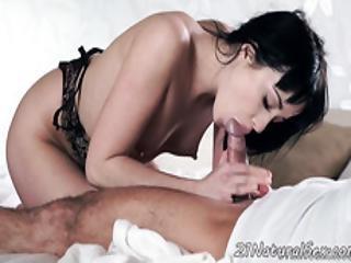 Cockriding Model Sucks Her Lovers Hard Dick