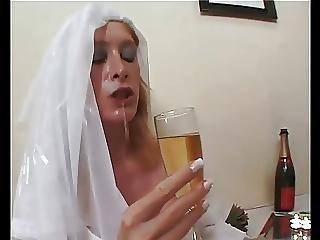 Anál, Menyasszony, Cumshot, érett, Szoknya, Harisnya, Upskirt