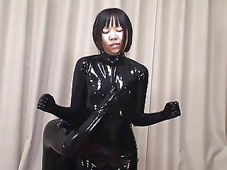 Asiatisch, Catsuit, Japanisch, Latex