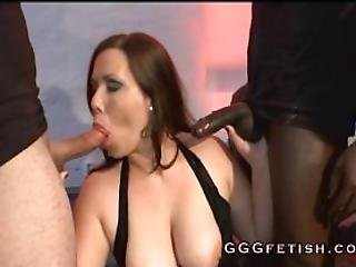Girls In Action With Black Cock