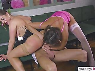 Horny Milf Guests Mea And Cathy Gets Pound Behind By Bid Dick