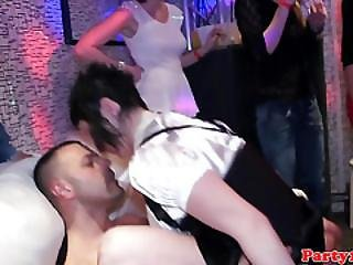 European Party Teens Sucking Dicks In The Club