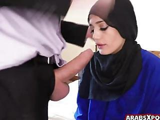 Super Cute Arab Teen Sucks Huge Cock With Her Hungry Mouth