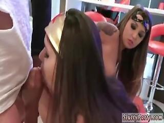 Teen Patrons Licking Webcam Halloween Scare
