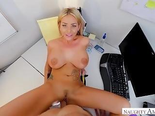 Big Tits, A Blowjob And A Bonus Rachele Richey Hard At Work