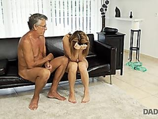 Daddy4k. Cutie Looks Hot In Wet Swimsuit So Why Old Man Wants Her