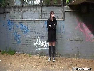 Sexy amateur exhibitionists public masturbation and outdoor flashing of daring