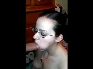 Busty Homemade Blowjob Girl Gets Facial On Glasses