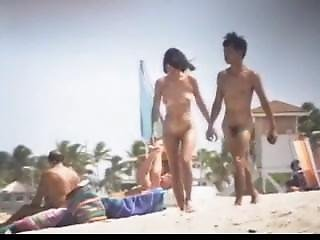 Asian, Beach, Fucking, Nice Tits, Nude