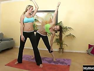 Brett Rossi And Dani Daniels Were Doing Some Yoga Together When They Noticed