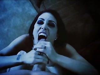 Sexy Vampire Goth Blowjob & Facial