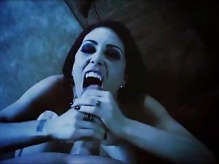 Sexy Vampire Goth Blowjob & Facial