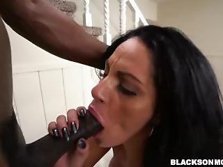 Threesome Latin Is Fucked By Two Black Dicks