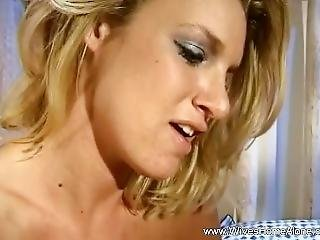 Blonde And Ebony Milfs Masturbate With Toys