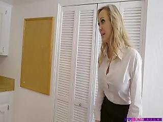 Step Siblings Caught - Brandi Love And Kimmy Granger Sorority Mom Fucks Step Sister And Brother 72