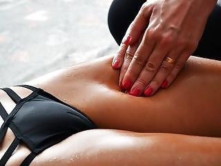 Amateur Sensual Massage - Fitness Girl - Nice Camel Toe In Tight Panties