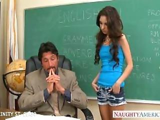 Slim Schoolgirl Trinity St Clair Take Cock